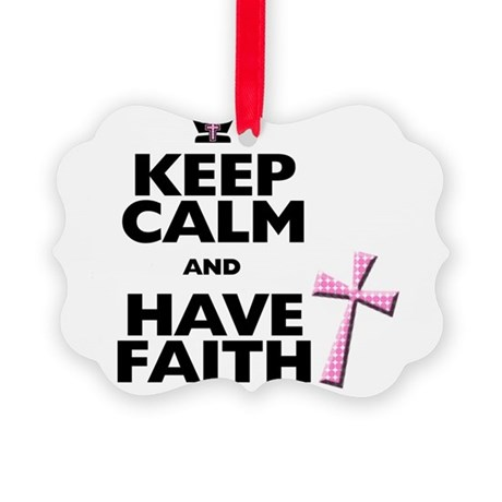 Keep Calm and Have Faith - pink polka-dots Picture