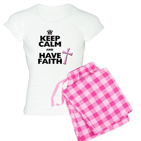 Keep Calm and Have Faith - pink polka-dots Women's
