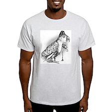 Parrot Pirate Ash Grey T-Shirt