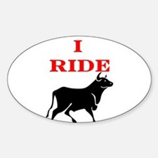Ride Bull.png Sticker (Oval)