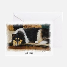 Tri Color Collie Greeting Cards (Pk of 10)