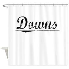 Downs, Vintage Shower Curtain