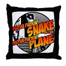 Snake on a Plane 2 Throw Pillow