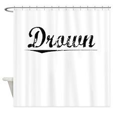 Drown, Vintage Shower Curtain