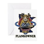 PLANKOWNER SSN 783 Greeting Cards (Pk of 10)