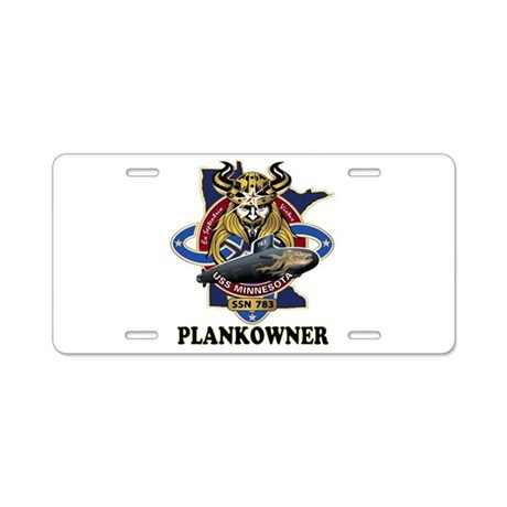 PLANKOWNER SSN 783 Aluminum License Plate