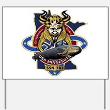 USS Minnesota SSN 783 Yard Sign