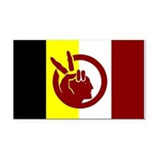 American Indian Movement Rectangle Car Magnet