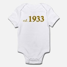 Est 1933 (Born in 1933) Infant Bodysuit
