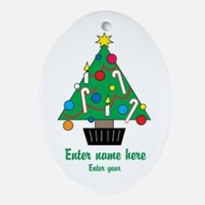 Personalized Christmas Tree Ornament (Oval)