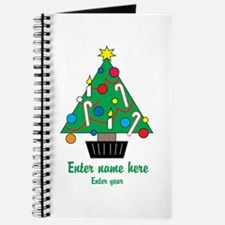 Personalized Christmas Tree Journal