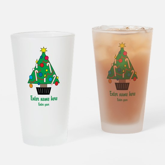 Personalized Christmas Tree Drinking Glass