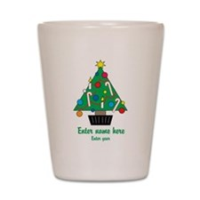 Personalized Christmas Tree Shot Glass