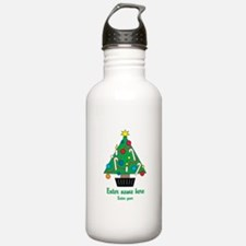 Personalized Christmas Tree Water Bottle
