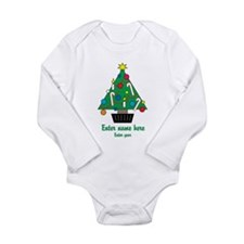 Personalized Christmas Tree Long Sleeve Infant Bod