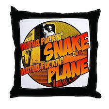 Snake on a Plane 3 Throw Pillow