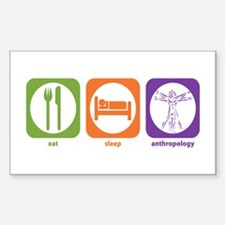 Eat Sleep Anthropology Rectangle Decal