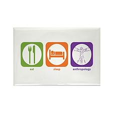 Eat Sleep Anthropology Rectangle Magnet