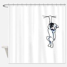Clingy Bulldog Shower Curtain