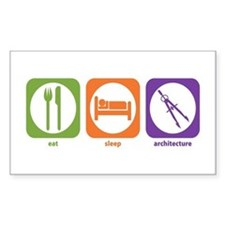 Eat Sleep Architecture Rectangle Decal