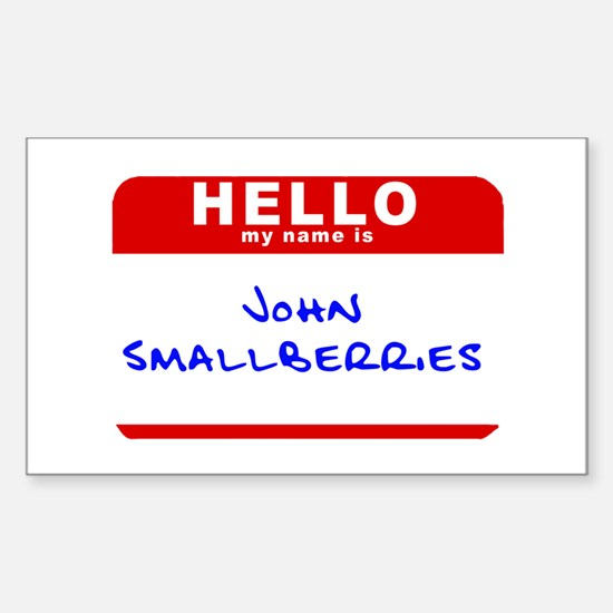 John Smallberries Rectangle Decal