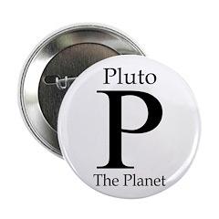 Pluto, the Planet (stylish Pro-Pluto button)