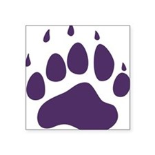 "Bear Paw Square Sticker 3"" x 3"""