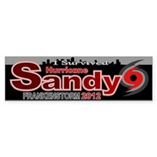 Hurricane Sandy Frankenstorm 2012 Bumper Sticker