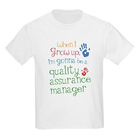 Future Quality Assurance Manager Kids Light T-Shir
