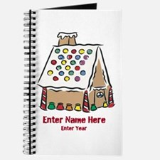 Personalized Gingerbread House Journal