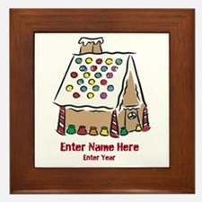 Personalized Gingerbread House Framed Tile