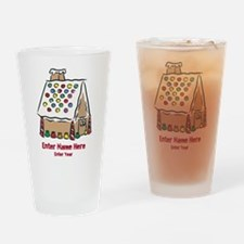 Personalized Gingerbread House Drinking Glass