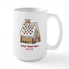 Personalized Gingerbread House Large Mug