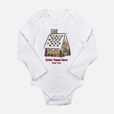 Personalized Gingerbread House Long Sleeve Infant