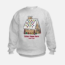 Personalized Gingerbread House Sweatshirt
