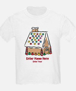 Personalized Gingerbread House T-Shirt