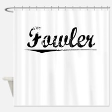 Fowler, Vintage Shower Curtain