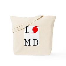 Hurricane Sandy Maryland Tote Bag
