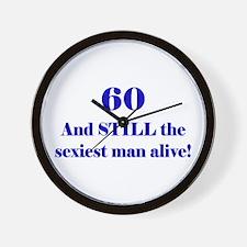 60 Still Sexiest 1C Blue Wall Clock