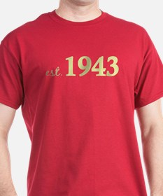 Est 1943 (Born in 1943) T-Shirt