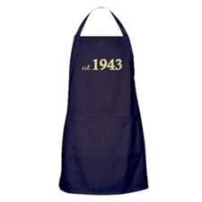Est 1943 (Born in 1943) Apron (dark)