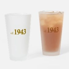 Est 1943 (Born in 1943) Drinking Glass