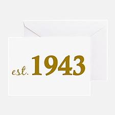 Est 1943 (Born in 1943) Greeting Card