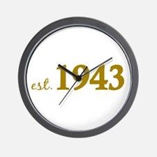 Est 1943 (Born in 1943) Wall Clock