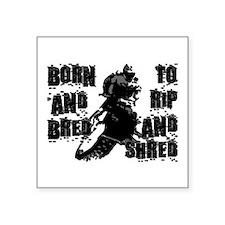 """Born And Bred Square Sticker 3"""" x 3"""""""