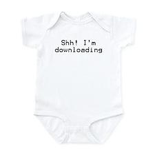 Shh! I'm Downloading. Infant Bodysuit