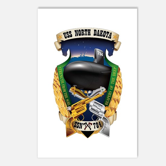 USS North Dakota SSN 784 Postcards (Package of 8)