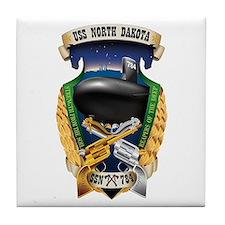 USS North Dakota SSN 784 Tile Coaster