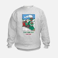 Personalized Santa Train Sweatshirt