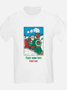 Personalized Santa Train T-Shirt